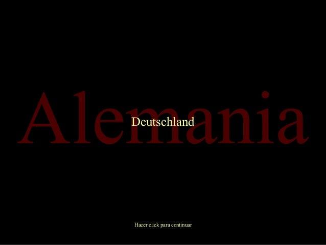 Alemania Deutschland  Hacer click para continuar