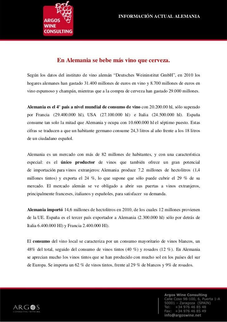SECTOR DEL VINO EN ALEMANIA