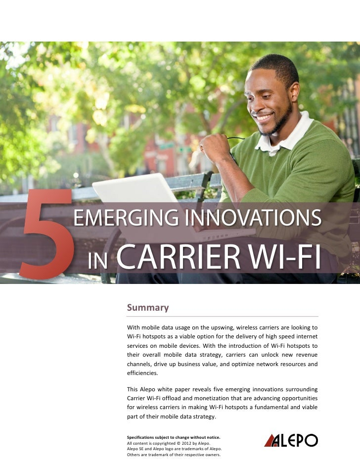 Alepo 5 Emerging Innovations Carrier-WiFi