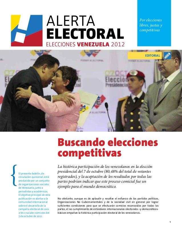 Alerta Electoral #8: Buscando elecciones competitivas en Venezuela