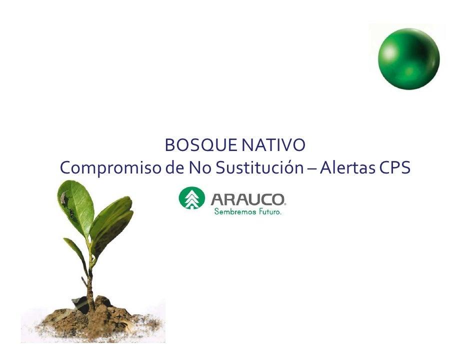 BOSQUE NATIVOCompromiso de No Sustitución – Alertas CPS