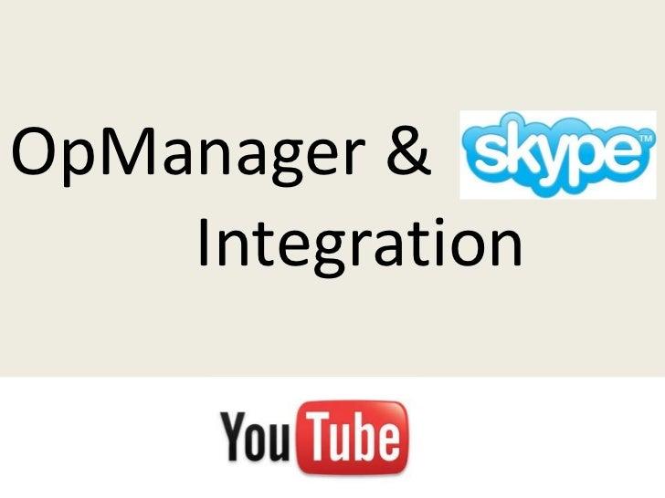 OpManager &    Integration