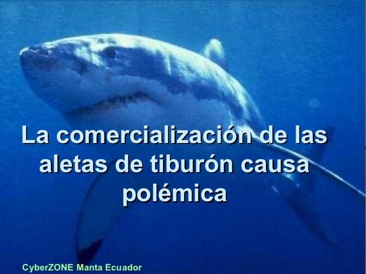 La comercialización de las aletas de tiburón causa polémica