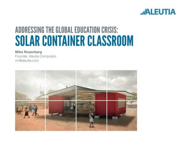 Aleutia's Solar Container Classroom