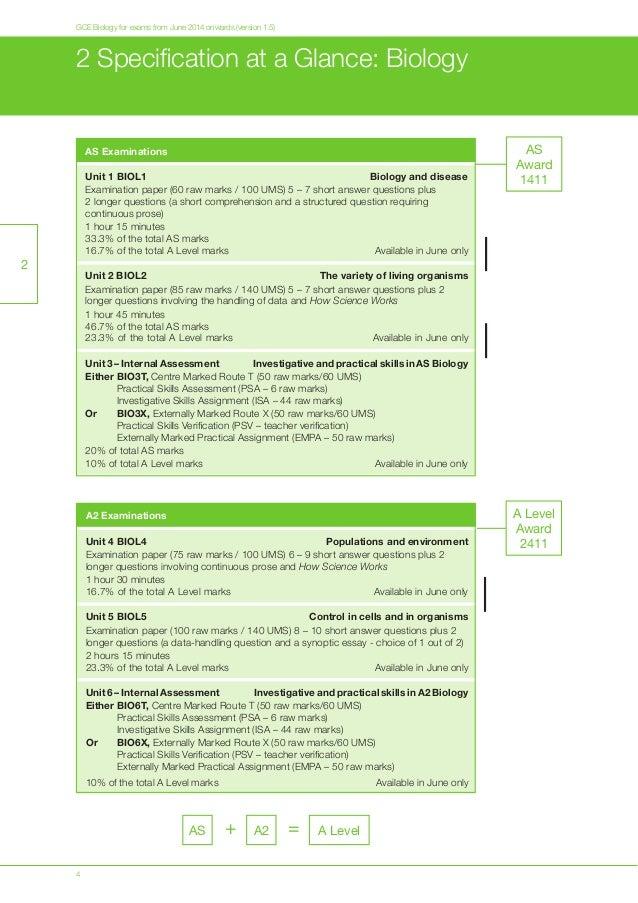 aqa a level biology unit 5 essay questions