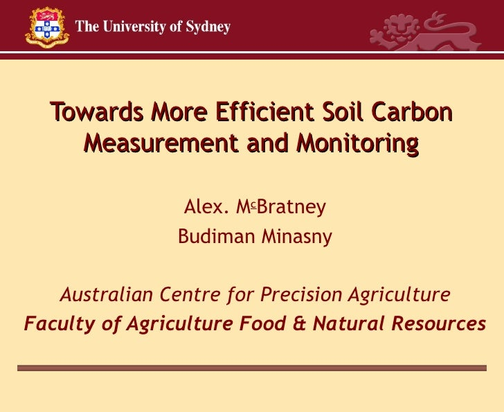 Towards Cost Efficient Soil Carbon Measurement and Monitoring