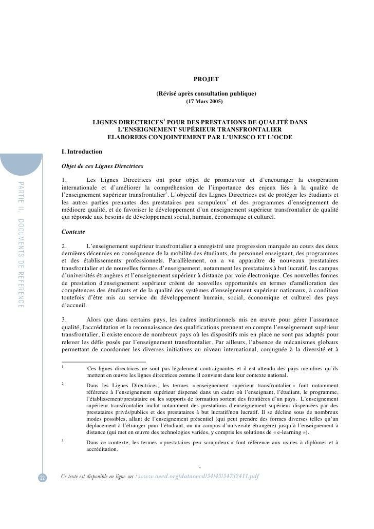PROJET                                                                                 (Révisé après consultation publique...