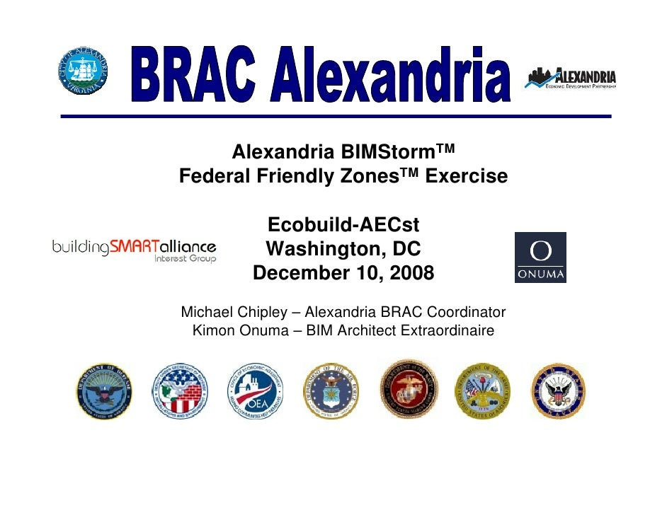 Alexandria BIMStormTM Federal Friendly ZonesTM Exercise            Ecobuild-AECst           Washington, DC          Decemb...