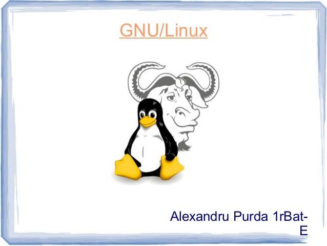 GNU/Linux Alexandru Purda 1rBat- E