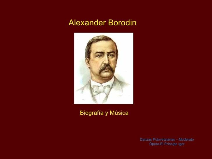 Alexander Borodin - Musico y Quimico