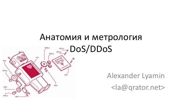 Alexander Lyamin - Anatomy and metrology of DoS/DDoS