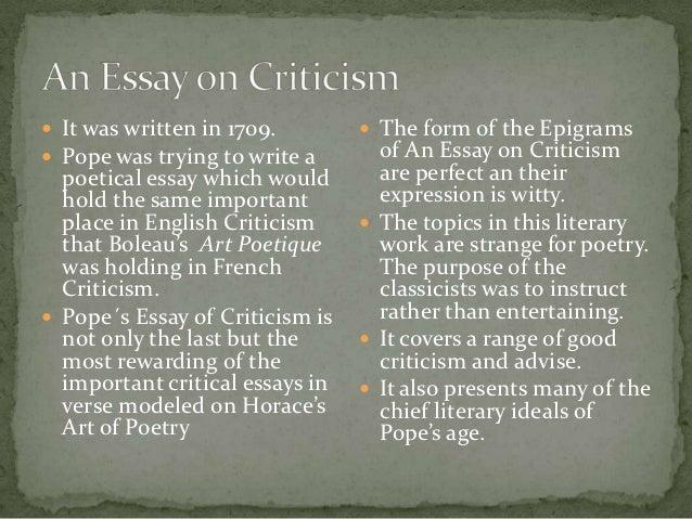 alexander pope s essay