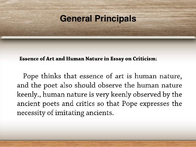 Pope Essay On Criticism Analysis