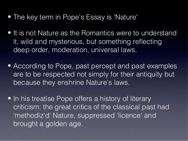 an essay on criticism by pope Librivox recording of an essay on criticism by alexander pope read in english by cwanki the title, an essay on criticism hardly indicates all that is.