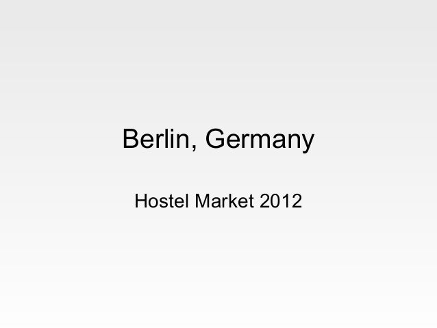 Berlin, GermanyHostel Market 2012