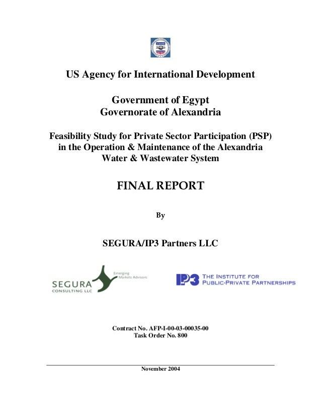 Alexandria PSP Feasibility Study - Final Report