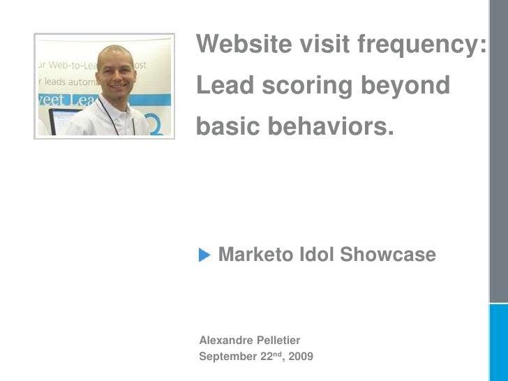 Website visit frequency - Lead scoring beyond basic behaviors.