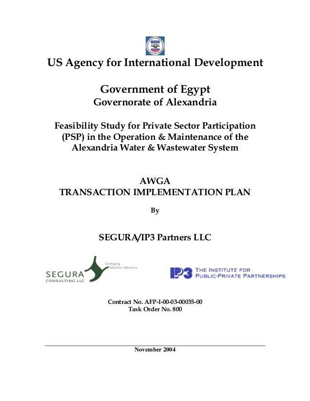 Alexandria- AWGA Transaction Implementation Plan