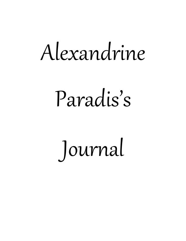 Alexandrine  Paradis's  Journal
