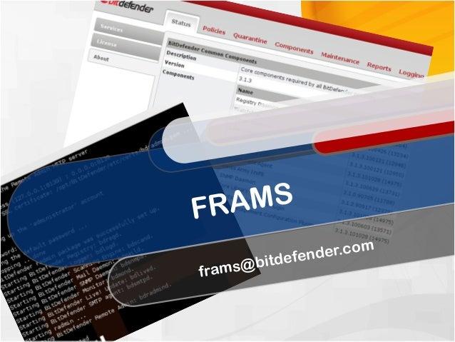FRAMS frams@bitdefender.com
