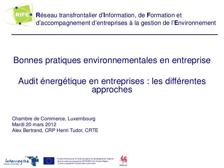 Réseau transfrontalier d'Information, de Formation et         d'accompagnement d'entreprises à la gestion de l'Environneme...