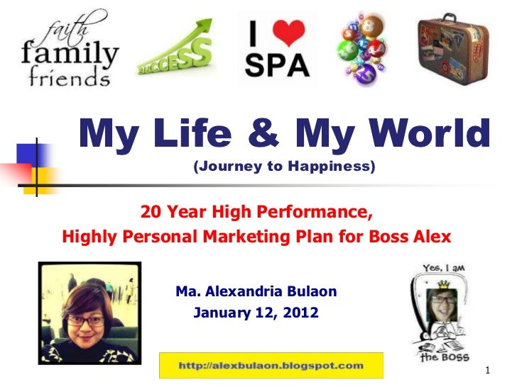 My Life & My World               (Journey to Happiness)         20 Year High Performance,Highly Personal Marketing Plan fo...