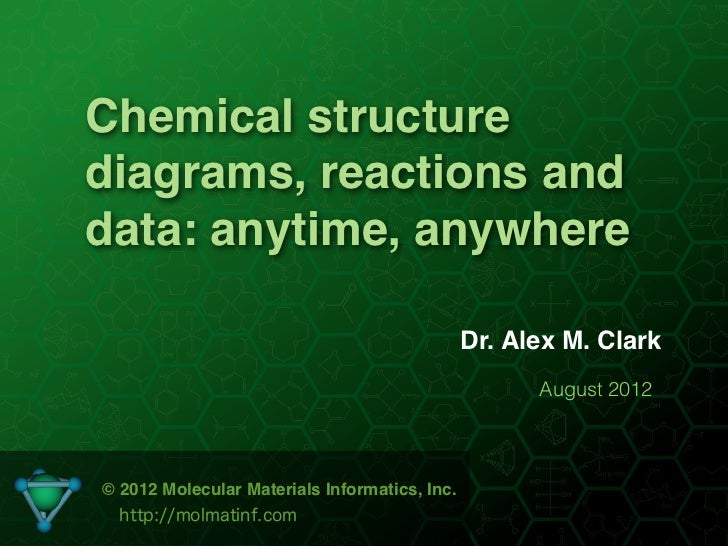 Chemical structurediagrams, reactions anddata: anytime, anywhere                                               Dr. Alex M....
