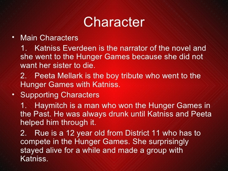 Book report the hunger games