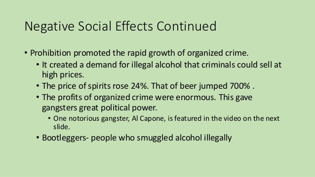 prohibition and the power of the people Oh the humanity prohibition was a former american government policy decided in an effort to try and destroy fun, one of three policies around the same period as the.