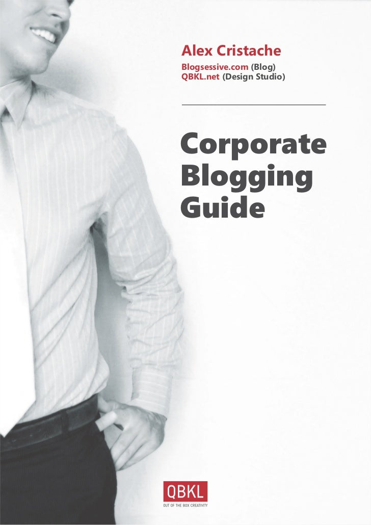 Alex Cristache - Corporate Blogging Guide (eBook)