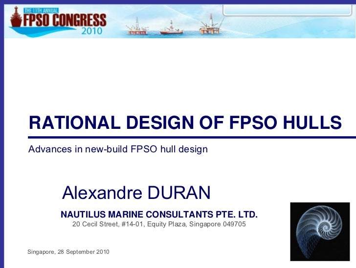 Rational Design of FPSO Hulls