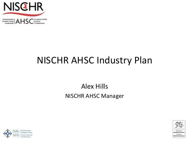 Alex hills nischr ahsc industry plan