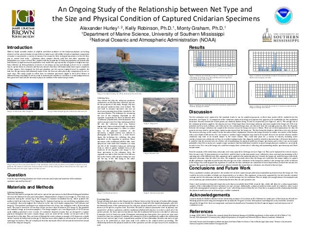 An Ongoing Study of the Relationship between Net Type and the Size and Physical Condition of Captured Cnidarian Specimens ...
