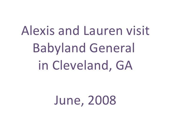 Alexis and Lauren