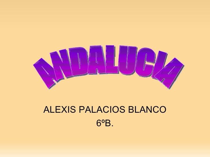 ALEXIS PALACIOS BLANCO 6ºB. ANDALUCIA