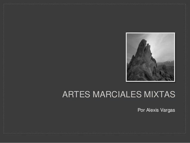 ARTES MARCIALES MIXTAS Por Alexis Vargas
