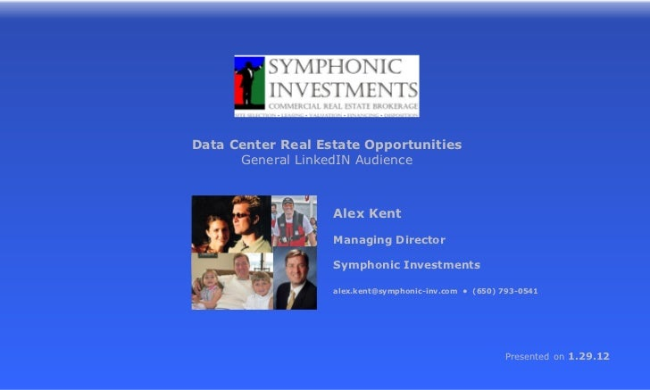 Alex Kent Candidate Data Center Real Estate For Linked In