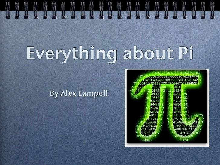 Everything about Pi  By Alex Lampell
