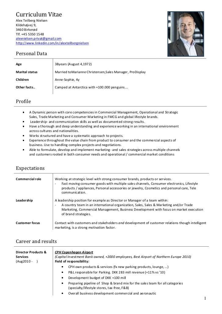 Alex Nielsen CV