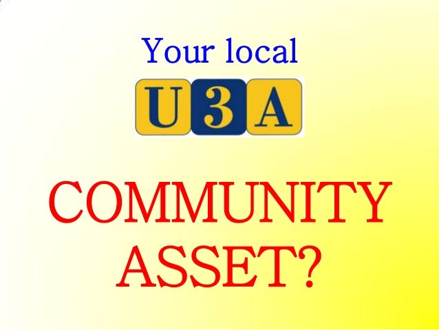 Your localCOMMUNITY  ASSET?