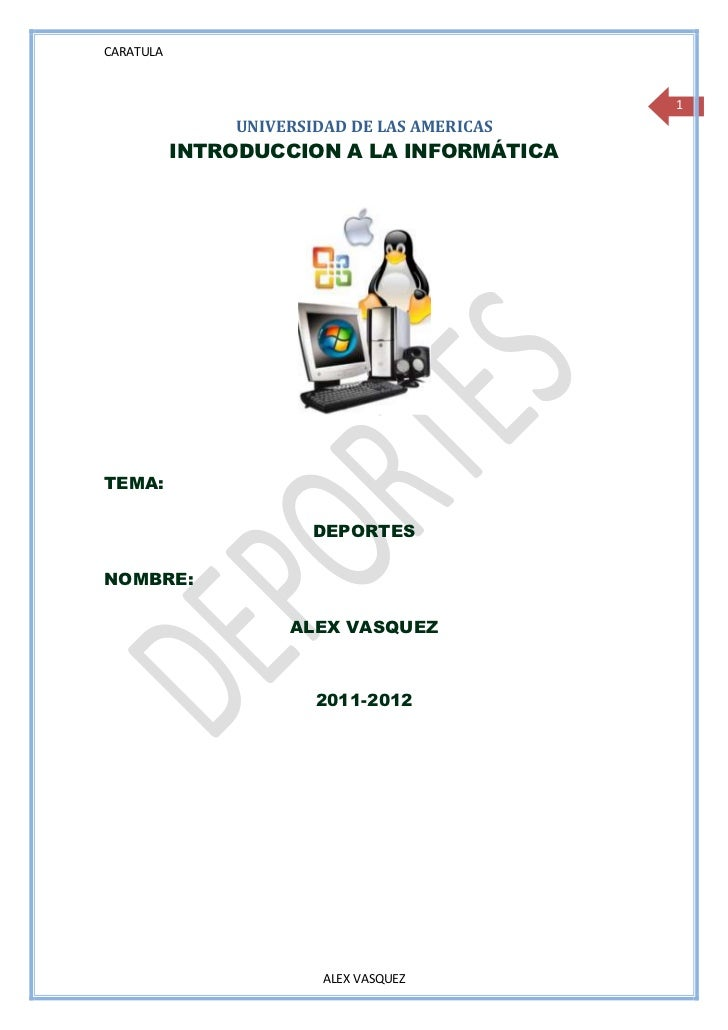CARATULA                                             1               UNIVERSIDAD DE LAS AMERICAS           INTRODUCCION A ...