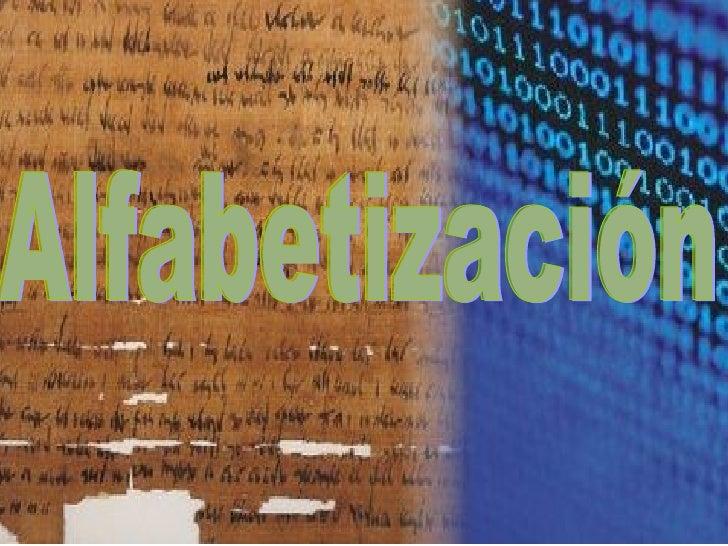 Alfabetizacion