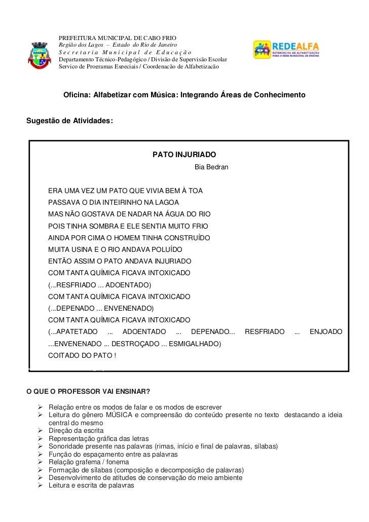 PREFEITURA MUNICIPAL DE CABO FRIO         Região dos Lagos – Estado do Rio de Janeiro         Secretaria Municipal de Educ...