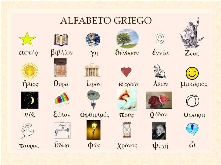 Alfabeto griego con imágenes