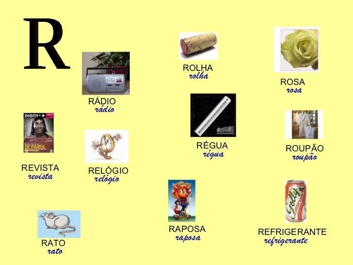 alfabeto letras objetos