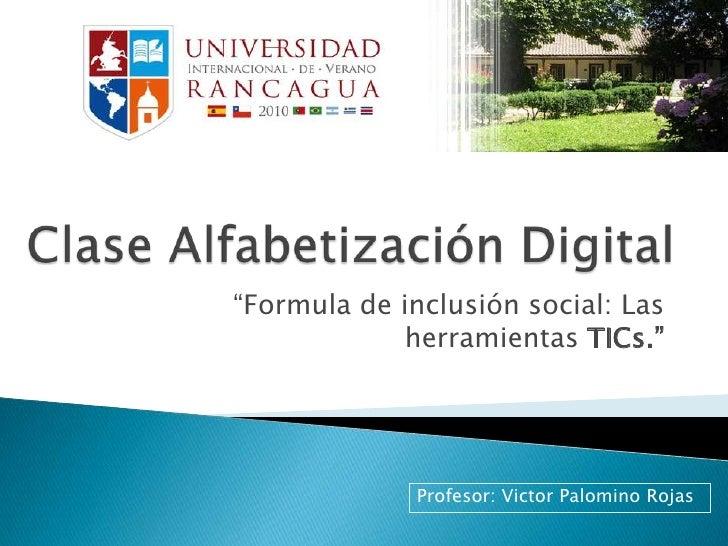 Infocentro - Alfabetización Digital
