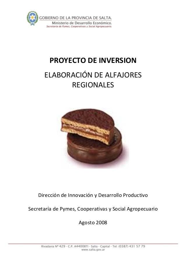 PROYECTODEINVERSION   ELABORACIÓNDEALFAJORES REGIONALES              DireccióndeInnov...