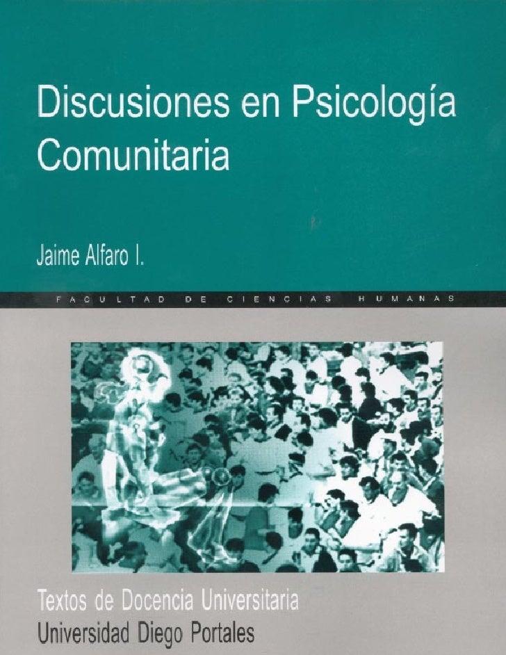 Alfaro psicología comunitaria