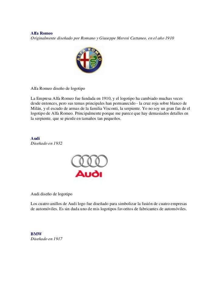 Alfa Romeo Originalmente diseñado por Romano y Giuseppe Merosi Cattaneo, en el año 1910Alfa Romeo diseño de logotipo La Em...