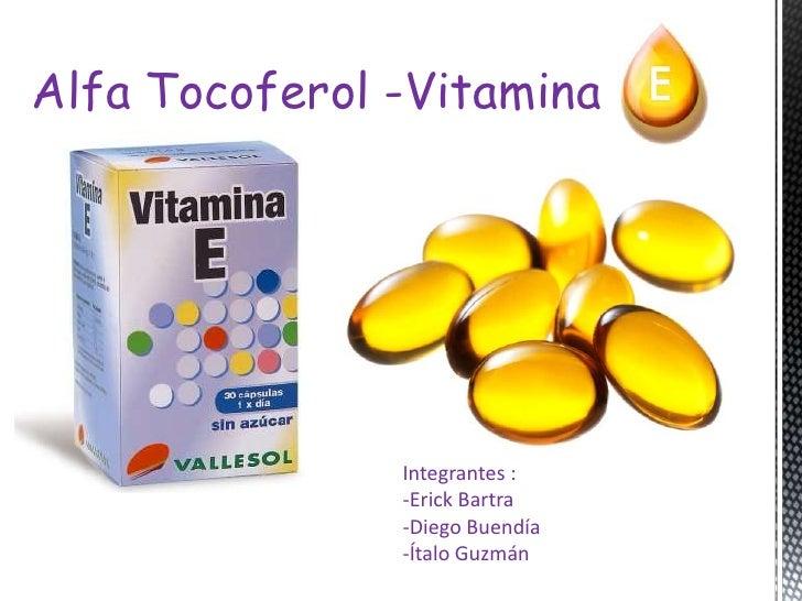 Alfa tocoferol  vitamina e